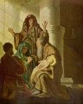 Quelle: Hannah und Simeon im Tempel |Technique, Öl auf Holz, 55,4 × 43,7 cm, Hamburg, Niederlande (Holland)